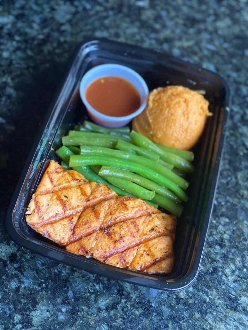Pineapple Habanero BBQ Salmon