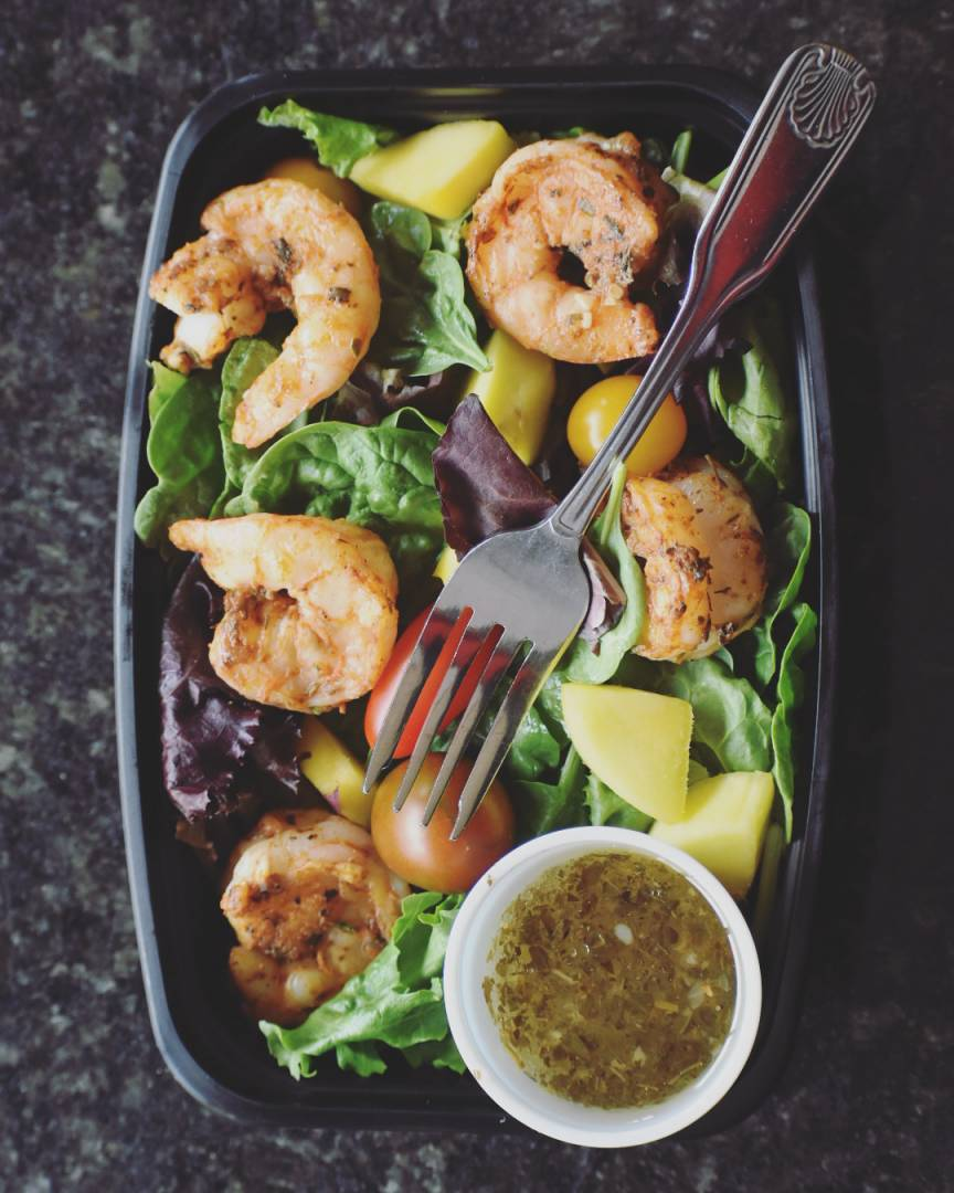 Blacken Shrimp Salad